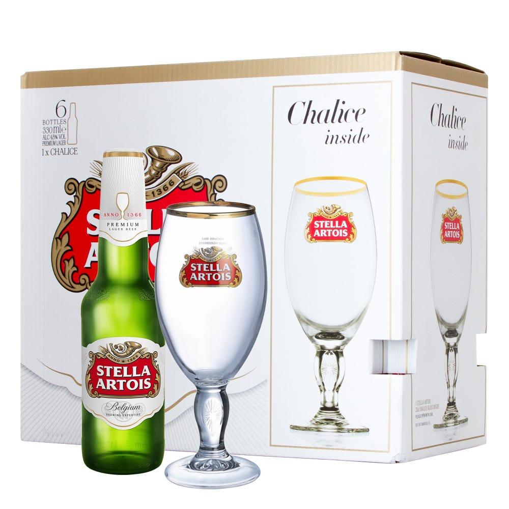 Stella Artois Premium Lager 6x 330ml Gift Pack With Chalice - DrinkSupermarket  sc 1 st  DrinkSupermarket & Stella Artois Premium Lager 6x 330ml Gift Pack With Chalice ...