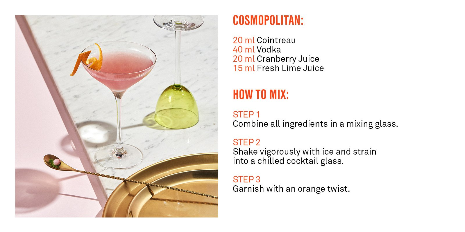 Cointreau Cosmo Cocktail