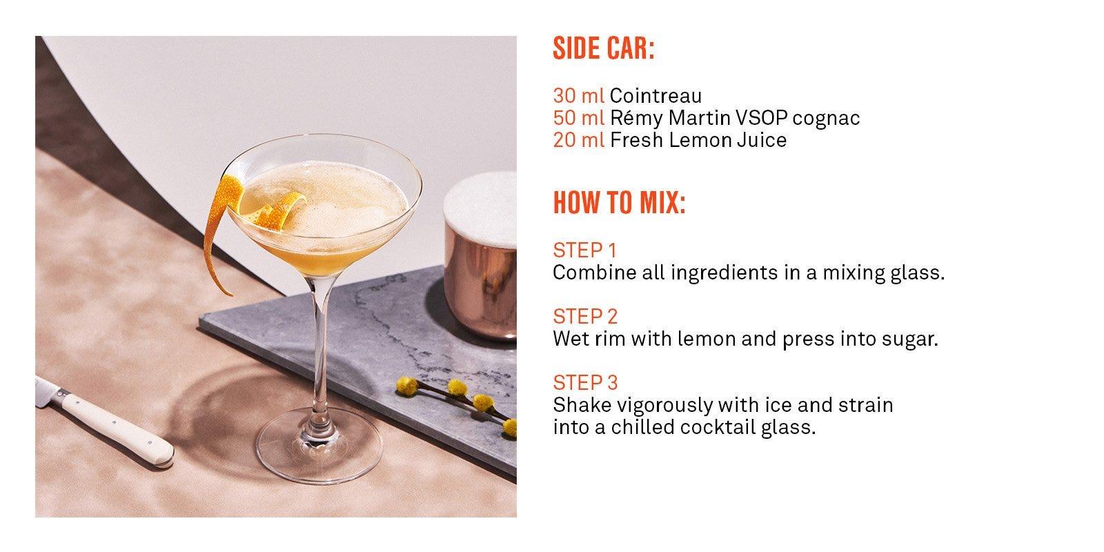 Cointreau Sidecar Cocktail