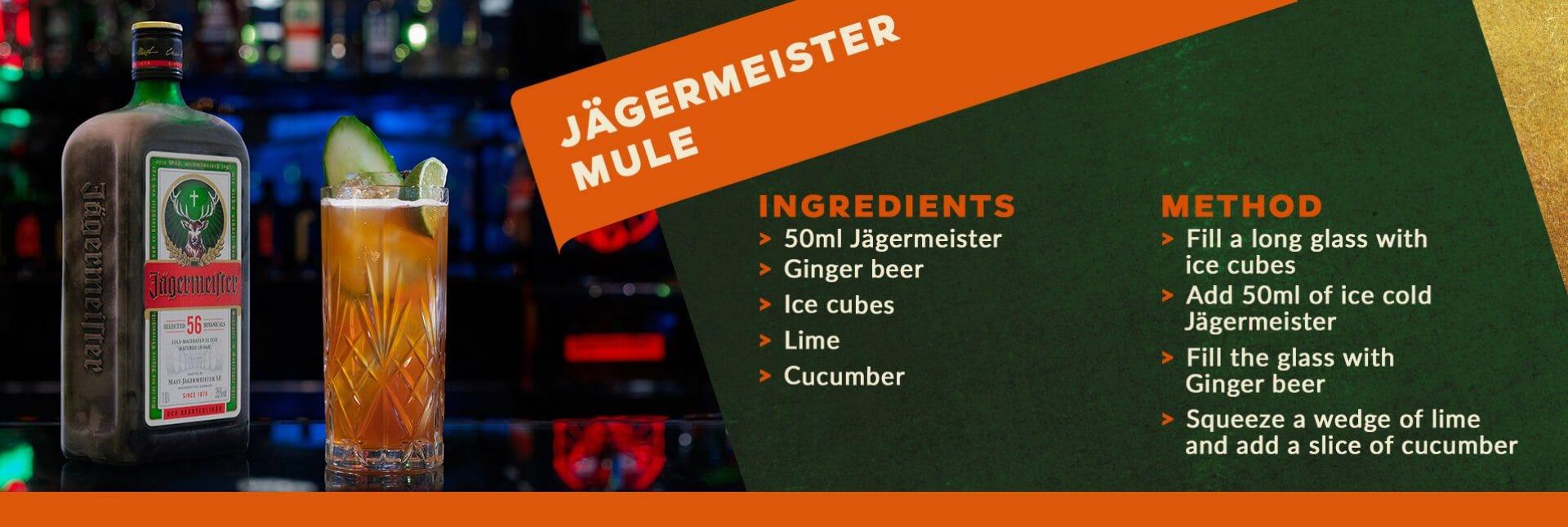 Jagermeister mule cocktail